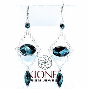 Hematite, magnetite & 92.5 sterling earrings $65